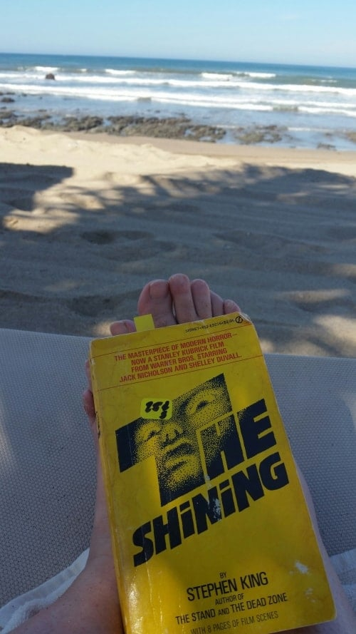 Reading The Shining on the Beaches of Mazatlan