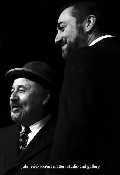 Patrick Spradlin and Kevin Yeager in The Woman in Black at CLC performing arts center in Brainerd, MN, photo by John Erickson