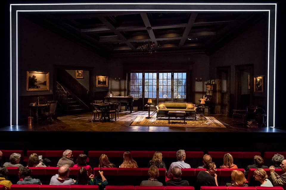 A full view of the set for The Guthrie Theater's Watch on the Rhine, designed by Neil Patel.