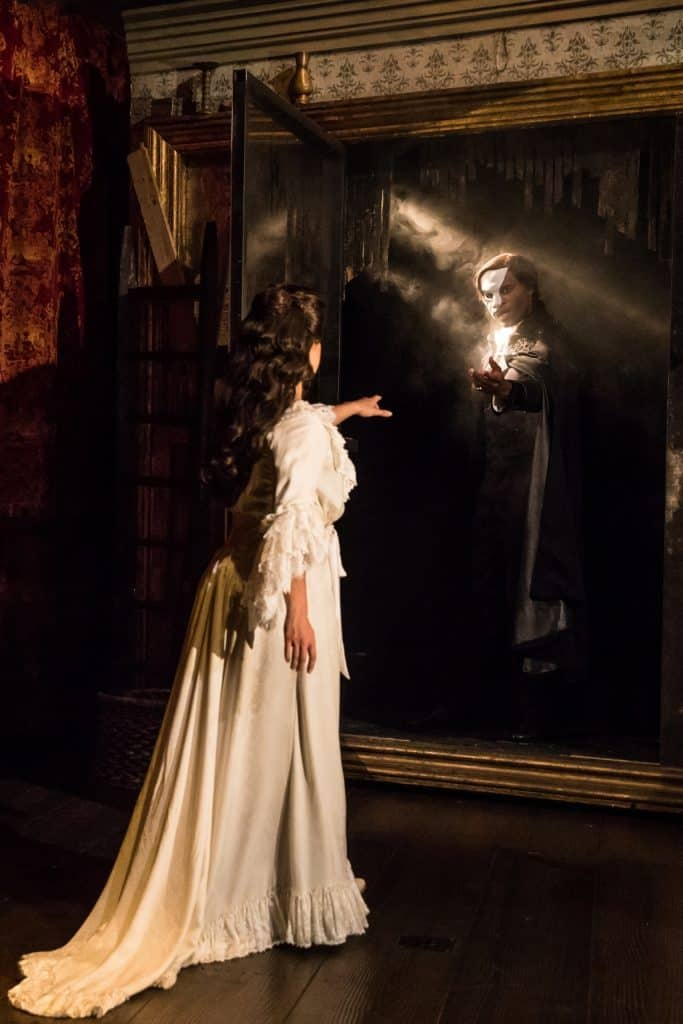 THE PHANTOM OF THE OPERA - Eva Tavares as Christine and Derrick Davis as The Phantom - photo by Matthew Murphy