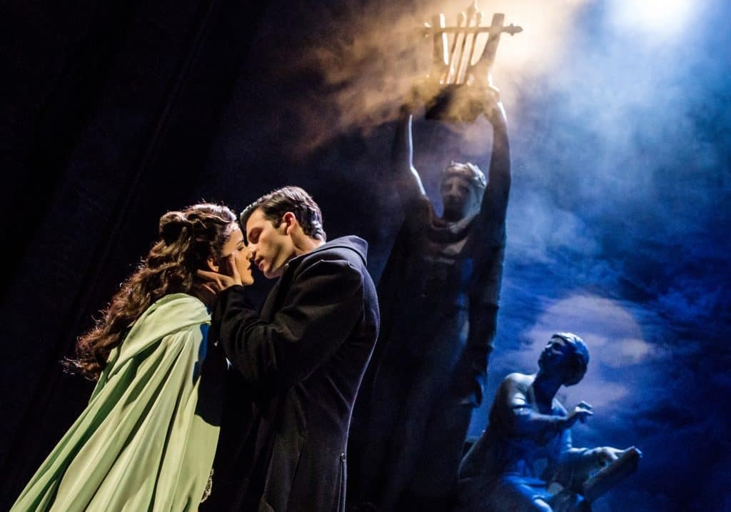 THE PHANTOM OF THE OPERA - Eva Tavares as Christine and Jordan Craig as Raoul- photo by Matthew Murphy