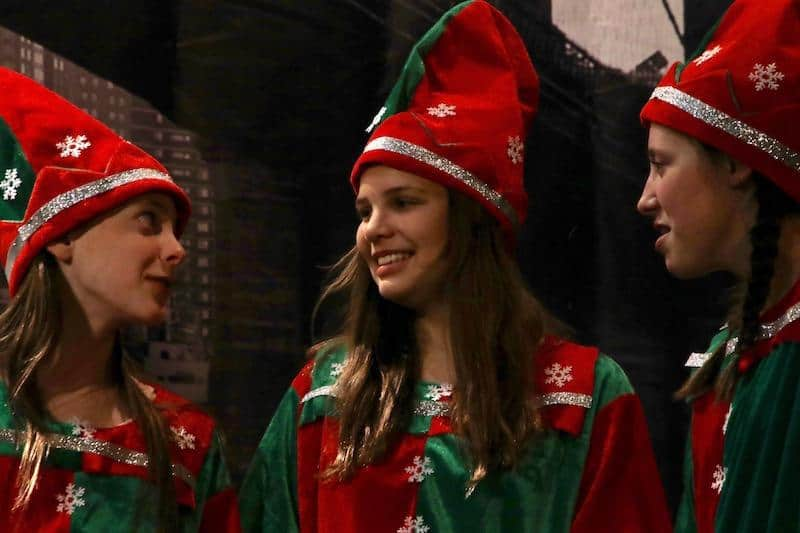 The Elves in Miracle on 34th Street, a Stage North production, Brainerd lakes area. Photo by John Erickson