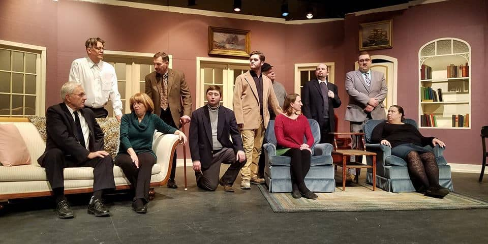 Thanks to Julie Johnson Friday for providing a few production photos to add to this post. The cast of And Then There Were None on stage at the Pequot Lakes Community Theater, Feb. 2018.