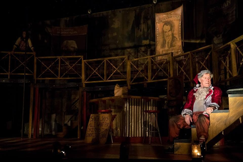 James Detmar as Samuel Byck in Assassins at Theater Latte' Da, through March 18, 2018. Photo by Dan Norman