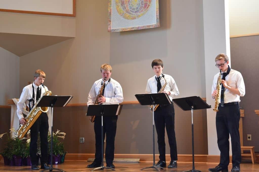 The Four Reeds, a saxophone quartet, including my boy Charlie.