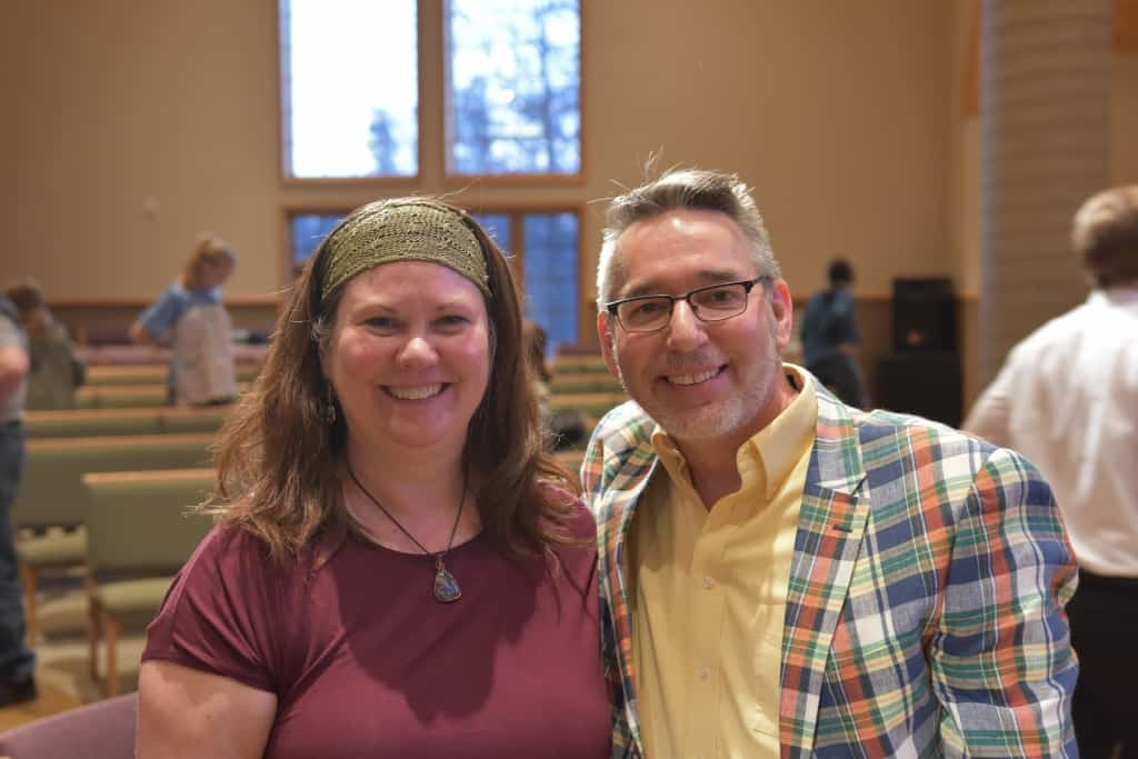 Mary Aalgaard and Guy Kelm, co-chairs and MCs for Hotdish and Hoopla!