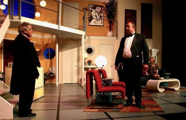 M.S. Bernard as Lenny and Marc Oliphant as Ernie in BCT's production of