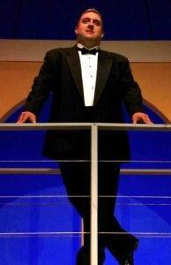Travis Chaput as Ken in Neil Simon's Rumors, on stage at BCT/CLC through June 22, 2018. Photos by John Erickson.