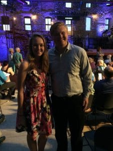 Concordia College music students, Zach and Tessa at Mill City Summer Opera Carmen