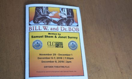 Review of Bill W. and Dr. Bob, a play about AA, BCT at CLC