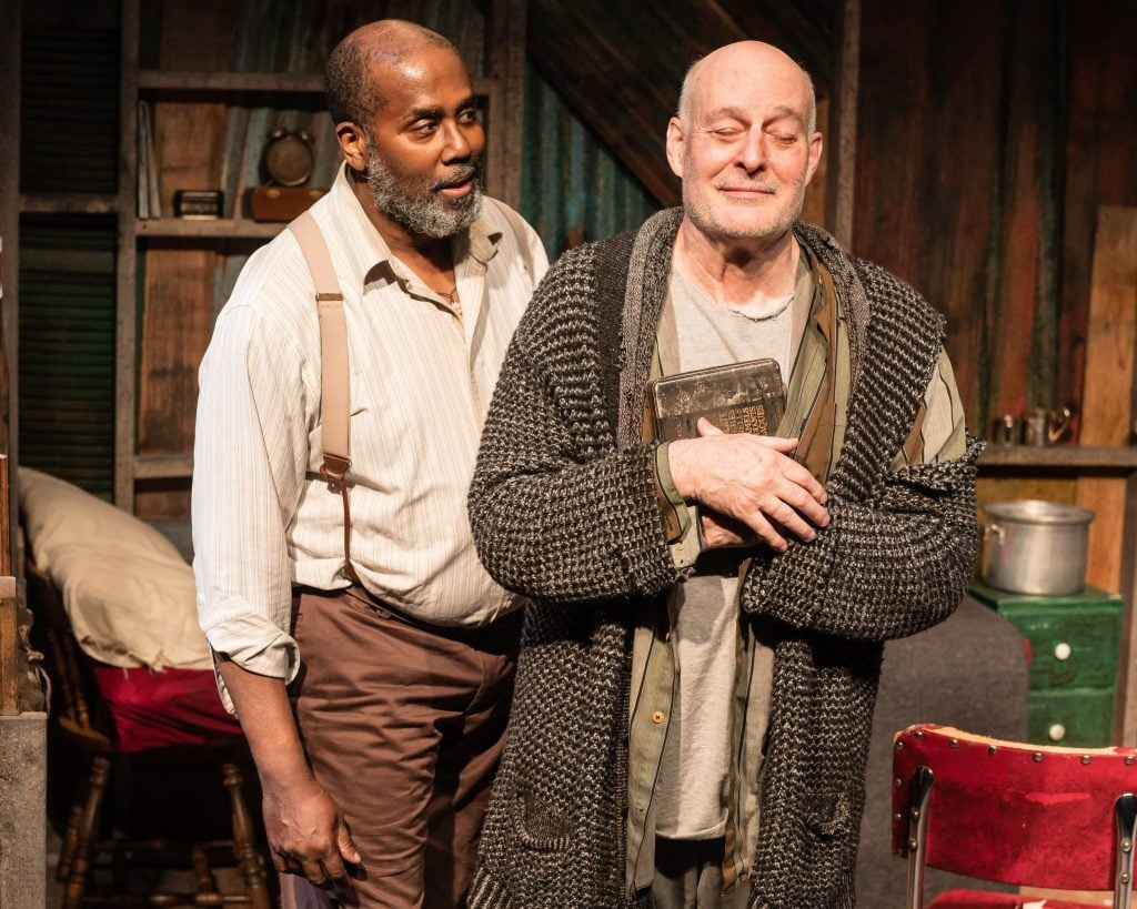 James A. Williams as Zachariah and Stephen Yoakam as Morris in Blood Knot at Pillsbury House Theatre. Photo by Rich Ryan